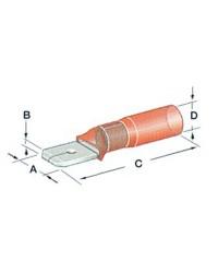 Cosse Faston thermorétractable mâle - 1.2 à 2.5 mm²