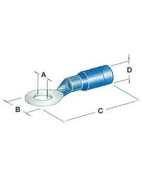 Cosse à oeil thermorétractable 4.3 mm - 1.2 à 2.5 mm²