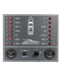 Tableau électrique 14 fusibles Airpax pour bateau moteur