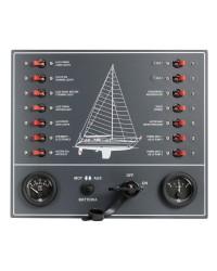 Tableau électrique 14 fusibles Airpax pour voilier