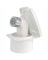 Coffret douche New Edge avec douche Boris - tuyau nyon blanc 4 M