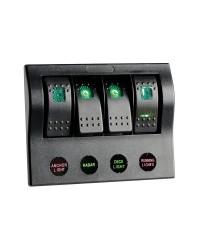 Tableau électrique série PCP Compact avec circuit breaker + LED 4 interrupteurs