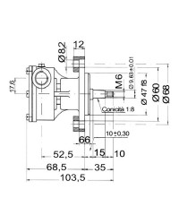 Pompe Nauco ST139/FPR039 ref 29470-2431 Jabsco