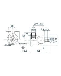 Pompe NAUCO modèle ST143/FPR043, bridée pour Nanni ref 29500-1501 Jabsco