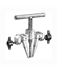 Extracteur en inox roue jusqu'à 2,5cm de bouche
