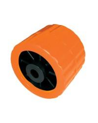 Galets latérales avec noyau en technopolymère Ø100x75 trou 15 mm - orange