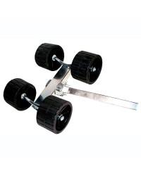 Galets doubles sur balancier élevé tube réhaussé de 40 mm
