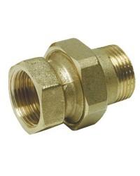 Raccord 3 pièces droit fermeture sphéro-conique et anneau 1''1/4