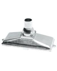Crépine Ø25mm verticale inox avec clapet anti-retour et grille