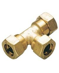 Raccord à compression en T 10 mm