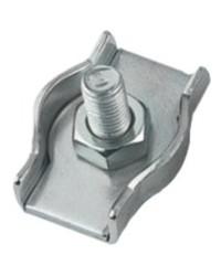 Serre câble plat inox simple - ø4 mm