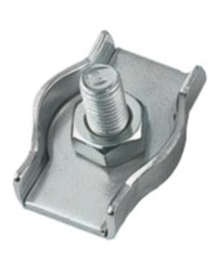 Serre câble plat inox simple - ø5 mm