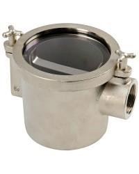 Filtre eau laiton nickelé 1''1/2 modèle tasse