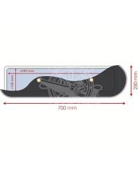 Rideaux occultants pour panneaux de pont 700 X 250 mm