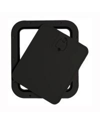 Trappe d'inspection avec façade amovible 305 x 355 mm - noir