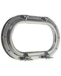 Hublot oval grand modèle laiton chromé 265x435