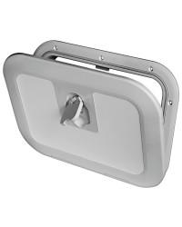 Porte d'équipet Flush en Luran 380 x 280 mm gris