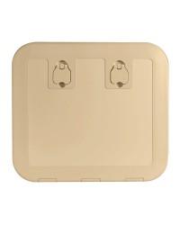 Porte d'équipet Flush en Luran 520 x 465 mm crème