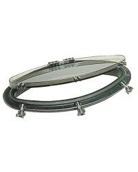 Hublot elliptique Bomar noir 146x415mm