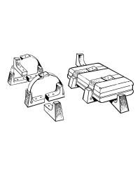 Kit de fixation du radeau dans sa valise rigide