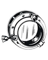 Hublot nylon circulaire noir 270