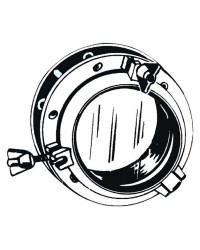 Hublot nylon circulaire blanc 320