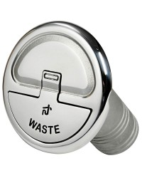 Nable Quick Lock inox droite Waste 38mm