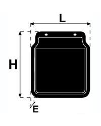 Bavette de garde-boue pour largeur 200mm