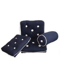 Coussin imperméable avec dossier 430x750mm bleu
