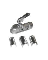 Crochet de remorque homologué pour tube 35 à 50 mm adaptable - 1300 Kg