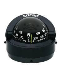 Compas RITCHIE Explorer externe 70 mm avec éclairage boitier noir - rose noire