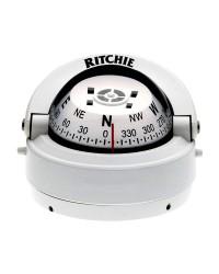 Compas RITCHIE Explorer externe 70 mm avec éclairage boitier blanc - rose blanche