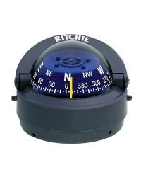 Compas RITCHIE Explorer externe 70 mm avec éclairage boitier gris - rose bleue