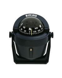 Compas RITCHIE Explorer sur étrier 70 mm avec éclairage boitier noir - rose noire