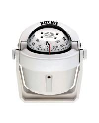 Compas RITCHIE Explorer sur étrier 70 mm avec éclairage boitier blanc - rose blanche