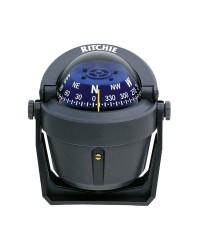 Compas RITCHIE Explorer sur étrier 70 mm avec éclairage boitier gris - rose bleue