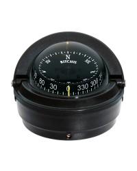 Compas RITCHIE Voyager externe 76 mm avec éclairage boitier noir - rose noire