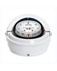 Compas RITCHIE Voyager externe 76 mm avec éclairage boitier blanc - rose blanc
