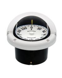 Compas RITCHIE Helmsman encastrable 94 mm avec éclairage boitier blanc - rose plate blanche