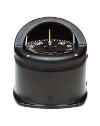 Compas RITCHIE Helmsman externe 94 mm avec éclairage boitier noir rose plate noire