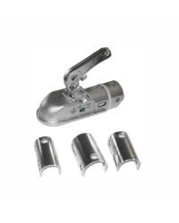 Crochet de remorque homologué pour tube 35 à 50 mm adaptable - 2000 Kg