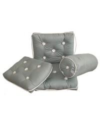 Coussin imperméable avec dossier 430x750mm gris