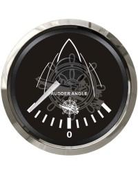 Indicateur angle de barre GUARDIAN 0-190 ohms cadran noir, lunette argentée