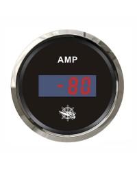 Ampèremètre numérique GUARDIAN cadran noir, lunette argentée