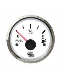 Jauge de carburant GUARDIAN 240-33 ohms cadran blanc - lunette argentée