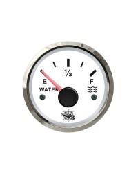 Jauge d'eau GUARDIAN 240-33 ohms cadran blanc, lunette argentée