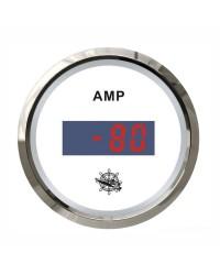 Ampèremètre numérique GUARDIAN cadran blanc, lunette argentée