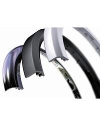 Bagues de finition pour instruments ViewLine chromé ronde incurvée 52mm