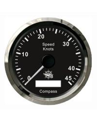 Speedomètre/boussole GPS GUARDIAN noir-argentée
