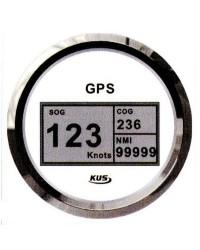 Speedomètre/totaliseur/boussole GPS GUARDIAN blanc-argentée